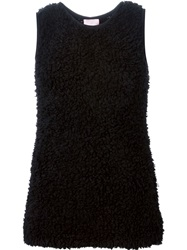 Giamba Sleeveless Fluffy Sweater Black