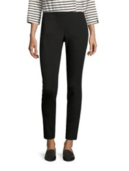 Lafayette 148 New York Cortland Punto Milano Leggings Black