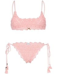 She Made Me Maalai Triangle Bikini Pink