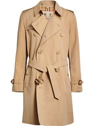 Burberry The Kensington Heritage Trench Coat Nude And Neutrals