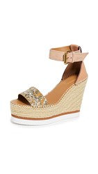 See By Chloe Glyn Wedge Espadrilles Fab Natural