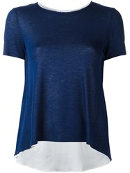 Dondup Flared T Shirt Blue