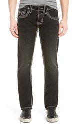 Men's Rock Revival 'Dan Alternative' Straight Leg Jeans Black