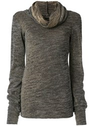 Maurizio Pecoraro Draped Roll Neck Sweater Grey