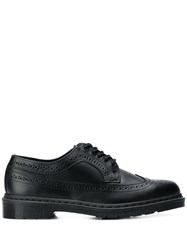Dr. Martens Perforated Derby Shoes Black