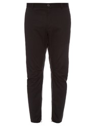 Lanvin Zip Cuff Cotton Gabardine Biker Trousers Black