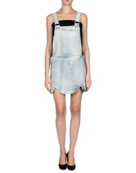 Finders Keepers Skirt Overalls Blue