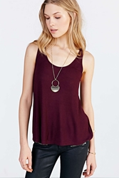 Silence And Noise Silence Noise Up All Night Tank Top Maroon
