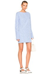 Toteme Lavarone Dress In Blue Checkered And Plaid Blue Checkered And Plaid