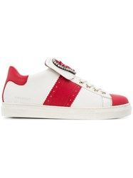 Twin Set Embellished Heart Sneakers White