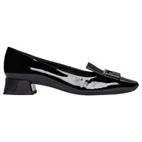 Geox 'S Vivyanne Ballet Pumps Black Patent Leather