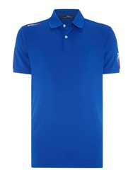 Rlx Ralph Lauren Performance Solid Polo Sapphire Blue