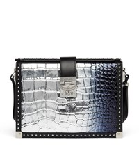 Mcm Mitte Holographic Cross Body Bag Female Silver
