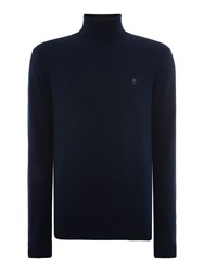 Peter Werth Battledean Cut Roll Neck Jumper Navy