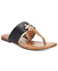 Tommy Hilfiger Sia Slip On Thong Sandals Women's Shoes Black