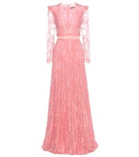 Alexander Mcqueen Lace Gown Pink