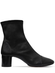 Isabel Marant 50Mm Datsy Stretch Leather Ankle Boots Black