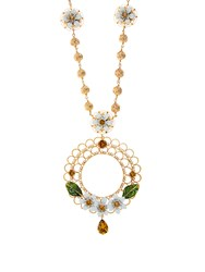 Dolce And Gabbana Daisy Necklace Gold Multi