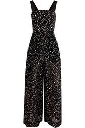 Diane Von Furstenberg Printed Cotton And Silk Blend Jumpsuit Black