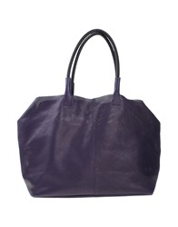 Manila Grace Denim Bags Handbags Women Dark Purple