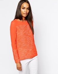 Aryn K Silk Mix Media Light Weight Sweater Coral