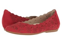 Lindi Earthies Bright Red Soft Buck Women's Shoes
