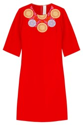Peter Pilotto Embroidered Dress Red