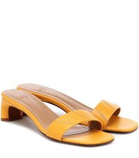 Loq Nona Leather Sandals Yellow