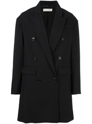 Veronique Branquinho Double Breasted Coat Black