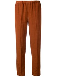 Alberto Biani Elastic Waist Trousers Brown