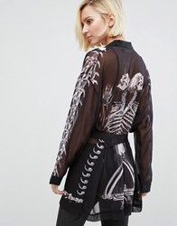 Religion Salvation Skull Kimono Salvation Graphic Black