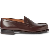 J.M. Weston 180 The Moccasin Leather Loafers Brown