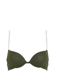 Dsquared2 Underwear Stretch Cotton Jersey Padded Bra