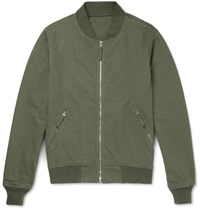 Aspesi Cotton Jersey Bomber Jacket Green