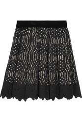 Just Cavalli Corded Lace Mini Skirt Black
