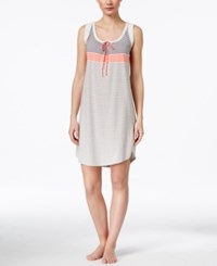Lucky Brand Striped Nightgown Coral Stripe