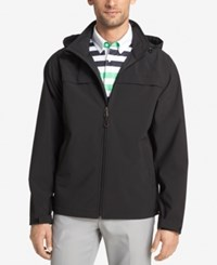Izod Men's Hooded Soft Shell Jacket Black