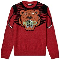 Kenzo Claw Tiger Crew Knit Red