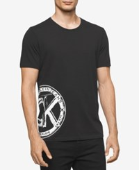 Calvin Klein Jeans Men's Black And White Graphic Print Logo T Shirt