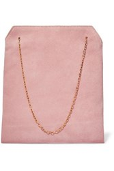 The Row Lunch Bag Small Suede Tote Pink