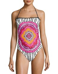 Trina Turk Bandeau One Piece Swimsuit Multi