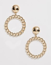 Pieces Gold Circle Earrings