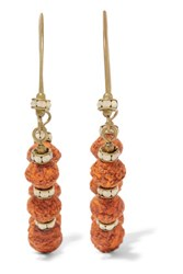 Isabel Marant Gold Tone Bead And Crystal Earrings Bright Orange