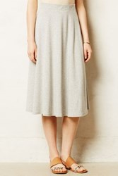 Anthropologie Knit Midi Skirt Light Grey