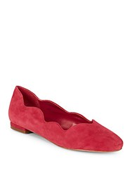 Saks Fifth Avenue Perry Suede Flats Red
