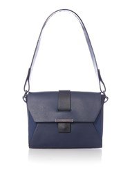 Kenneth Cole Lennox Shoulder Bag Navy