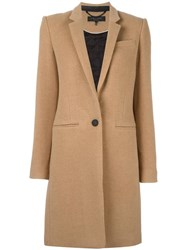 Rag And Bone Welt Pockets Mid Coat Nude Neutrals