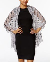 Inc International Concepts Diamond Pailette Evening Wrap Only At Macy's Silver