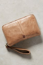 Anthropologie Pleated Wallet Putty