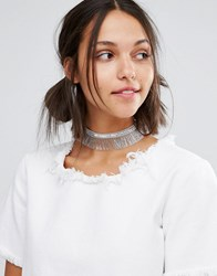Suzywan Deluxe Holographic Sequin Fringe Choker Multi